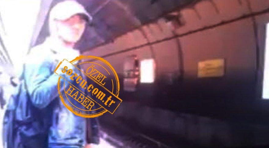 Güneycan'ın ölmeden önceki son görüntüsü metro kamerasına böyle yansıdı.