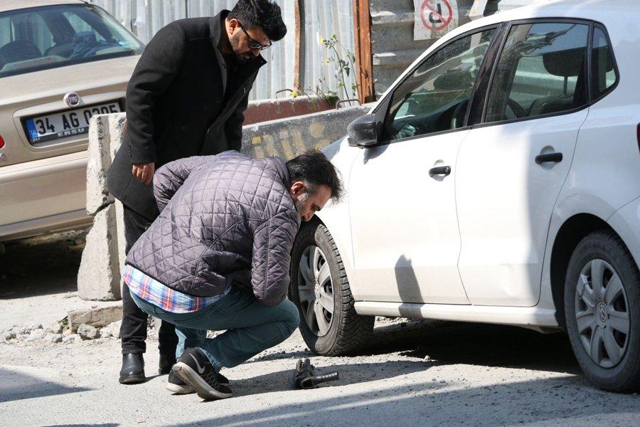 FOTO:DHA - Saldırgan olayda kullandığı pompalı tüfeği bırakarak kaçtı...