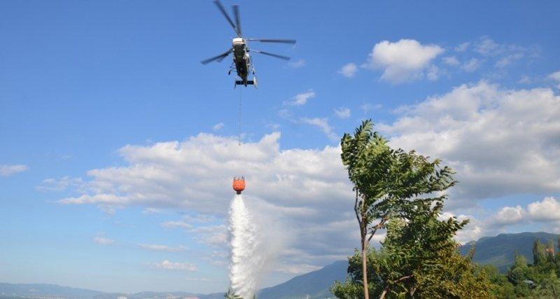 FOTO:İHA /Arşiv - İstanbul'da şuan da yangın helikopteri yok.