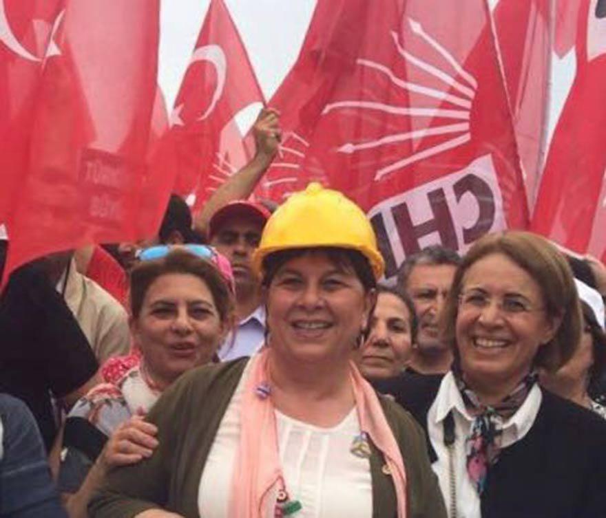 FOTO: Mehmet Serbest- CHP Adana milletvekili Elif Doğan Türkmen 1 Mayıs yürüşünde