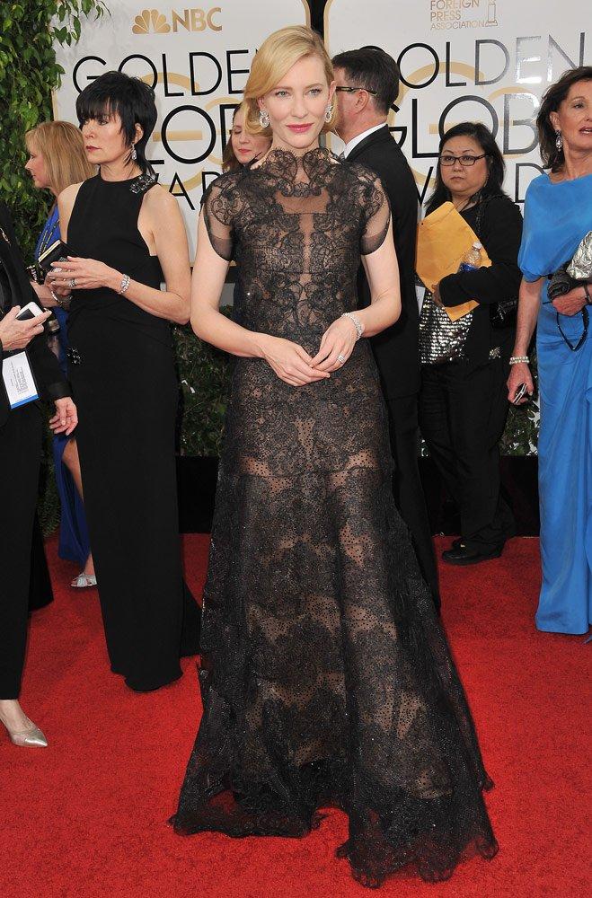 Cate Blanchett 2014 Golden Globe töreninde...