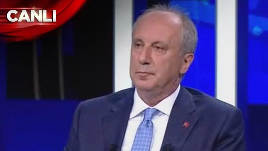 Muharrem İnce CNN TÜRK'te canlı yayında!