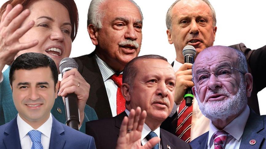6 Cumhurbaşkanı adayı belli oldu, şimdi adaylar bağış peşinde