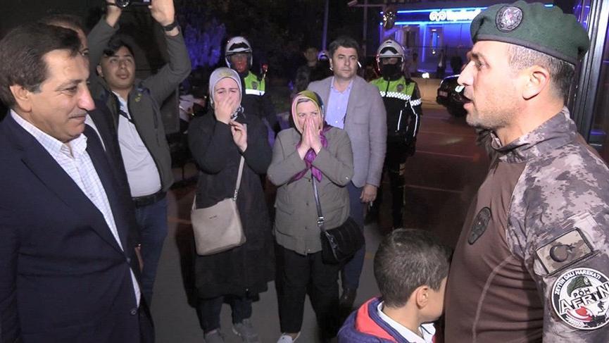 Afrin'den dönen Özel Harekatlar sevinç gözyaşlarıyla karşılandı