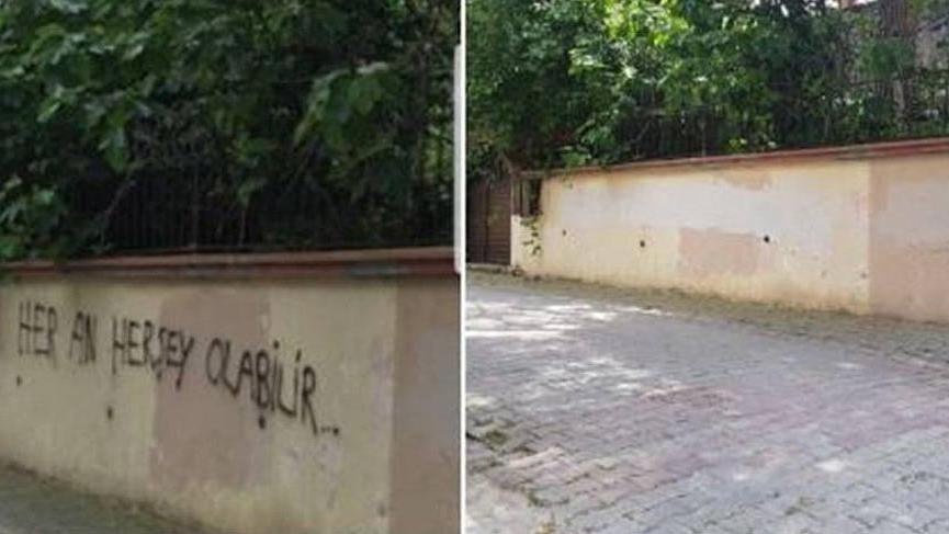 Akşener'in evinin önüne tehdit içerikli yazı yazan şüpheli serbest