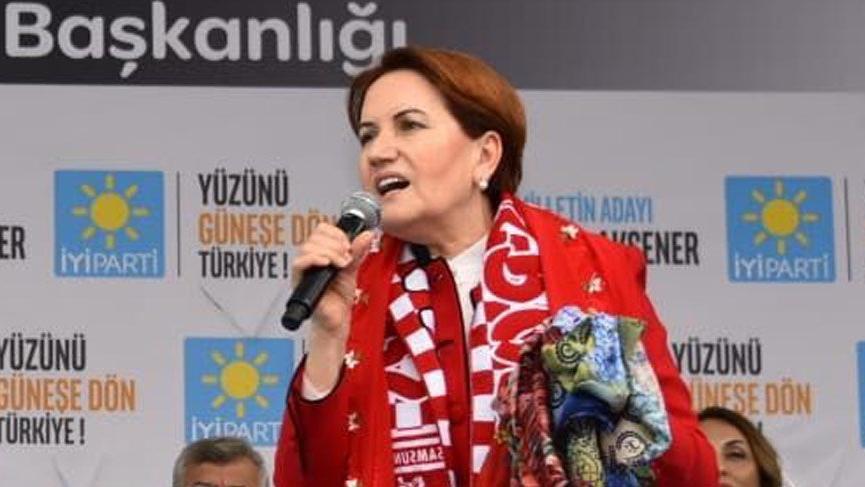 Meral Akşener Çorum'da partisinin mitingine katıldı