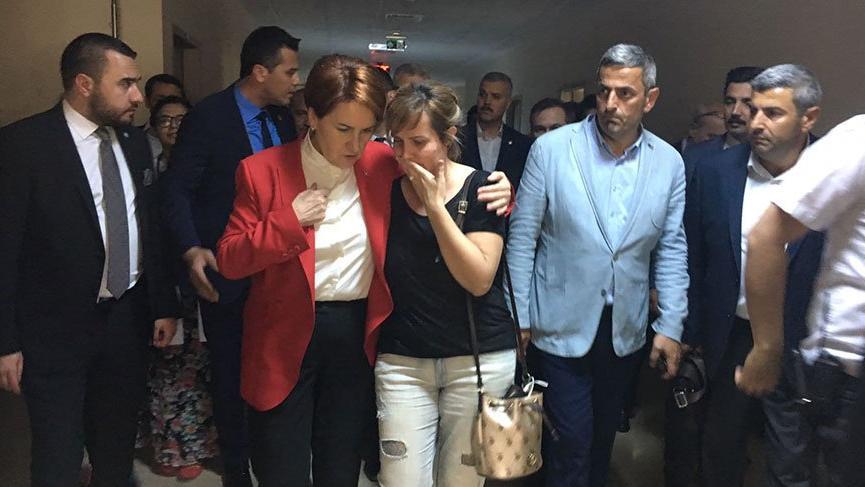 Meral Akşener kaza geçiren İYİ Partilileri ziyaret etti