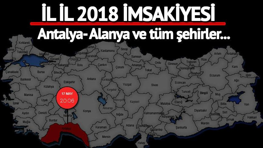 Antalya iftar vakti ve sahur ne zaman? İftara kaç saat kaldı? İşte 2018 Alanya imsakiyesi…