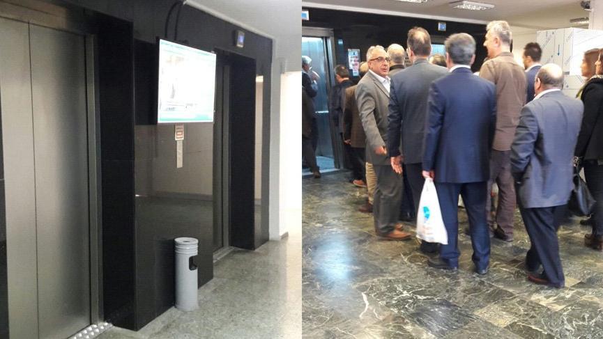 VIP asansöre binmek yasak