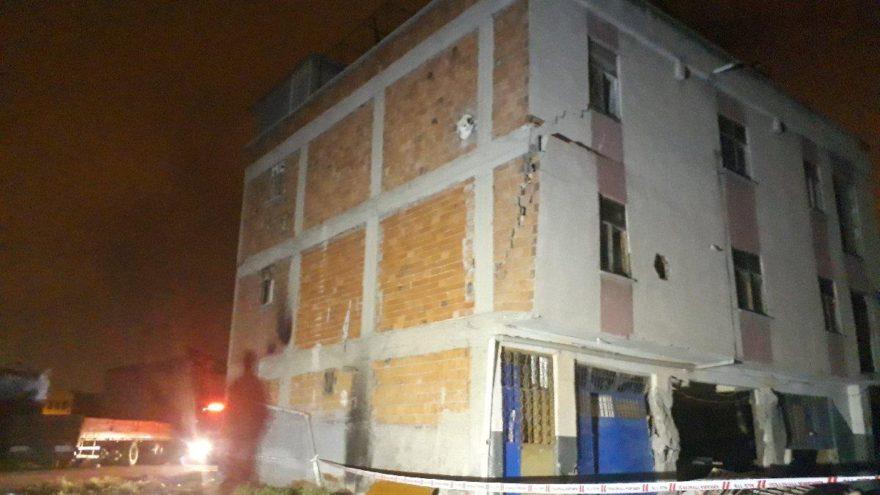 Başkentte bir binada çökme paniği
