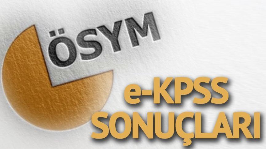 eKPSS sonuçları açıklandı! İşte Engelli e-KPSS sonuçları ÖSYM sorgulama sistemi…