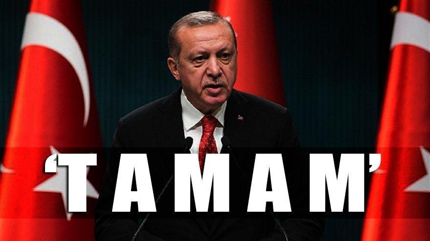 Erdoğan'ın sözleri sonrası sosyal medya yıkıldı! Milyonlarca kişi 'T A M A M' dedi