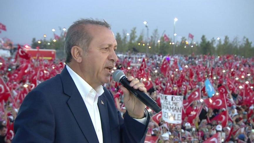 Cumhurbaşkanı Erdoğan Çorlu'da konuştu