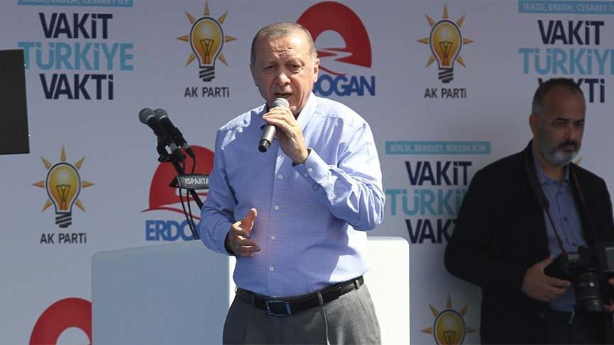 AKP Genel Başkanı Tayyip Erdoğan'dan Isparta'da 'üniversite' gafı