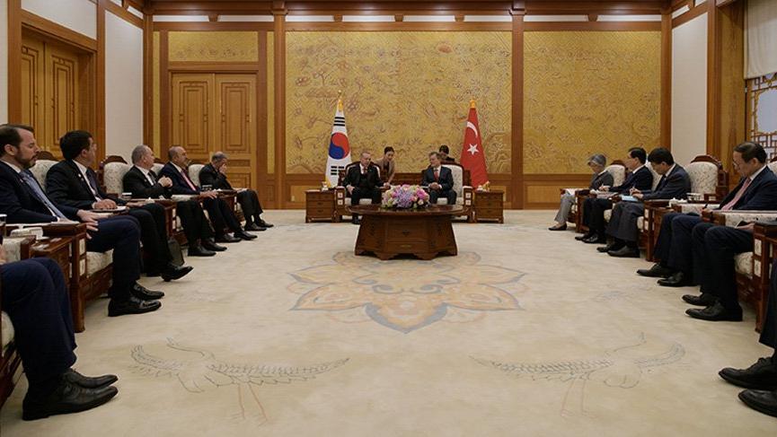 Cumhurbaşkanı Erdoğan Güney Kore'de
