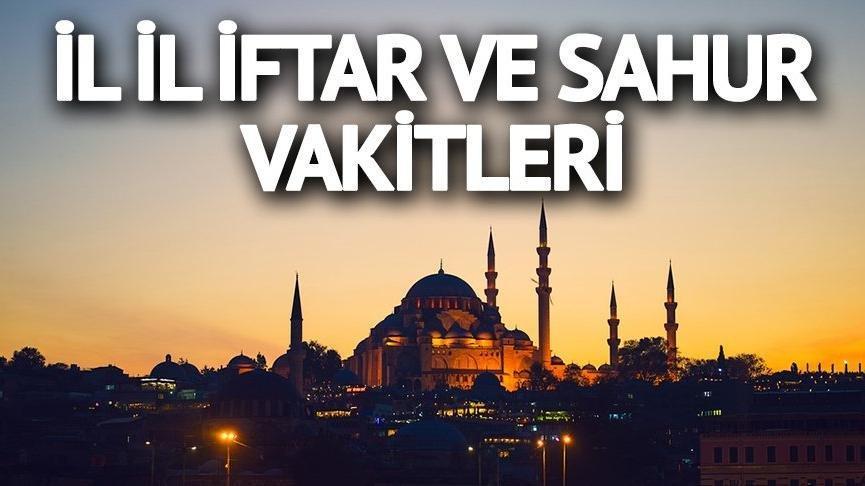 Bursa için iftar vakti (Bursa ramazan imsakiyesi 2018 ve sahur saati)