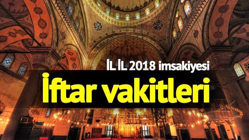 İstanbul, İzmir, Ankara imsakiyesi... İl il iftar vakitleri! Oruç saat kaçta açılacak?