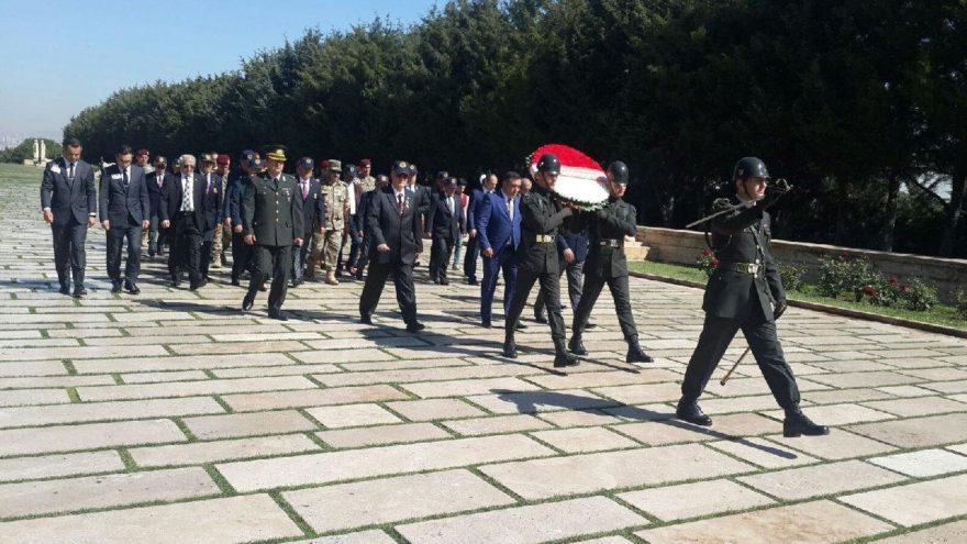 Azerbaycanlı gaziler, Anıtkabir'de