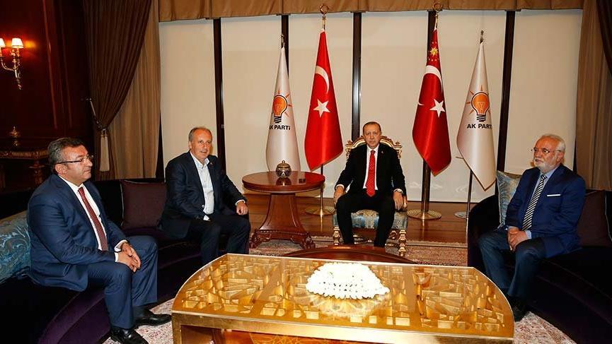 Erdoğan-İnce görüşmesindeki koltuk detayı!