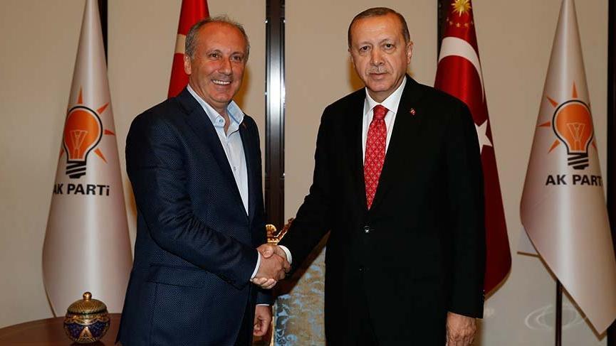 Muharrem İnce Erdoğan'la görüştü