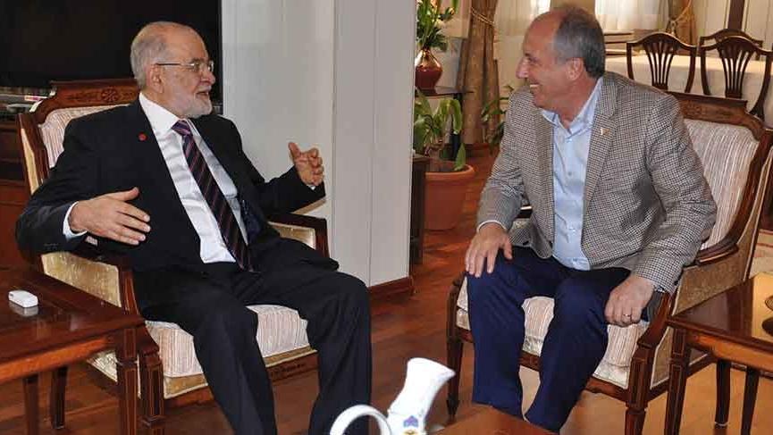 Muharrem İnce ve Temel Karamollaoğlu, Saadet Partisi Genel Merkezi'nde buluştu