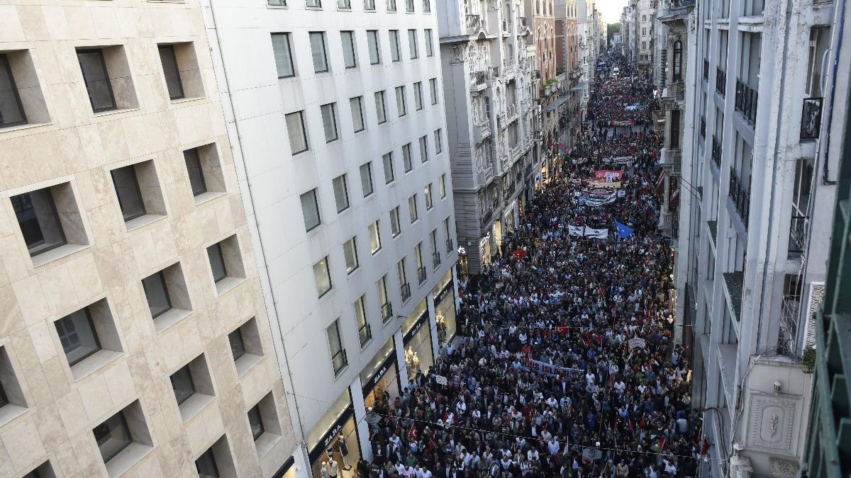 Beyoğlu'nda 'Kudüs' protestosu