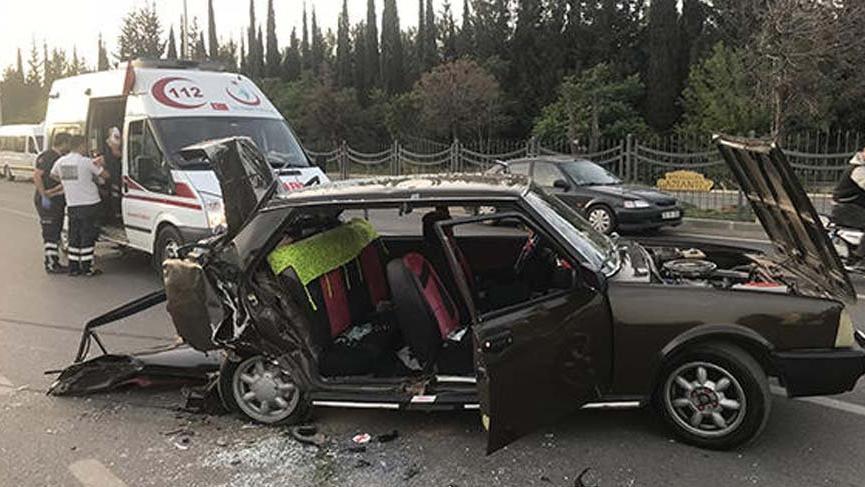 Gaziantep'te feci kaza sonucu 1 kiş öldü 14 kişi yaralandı