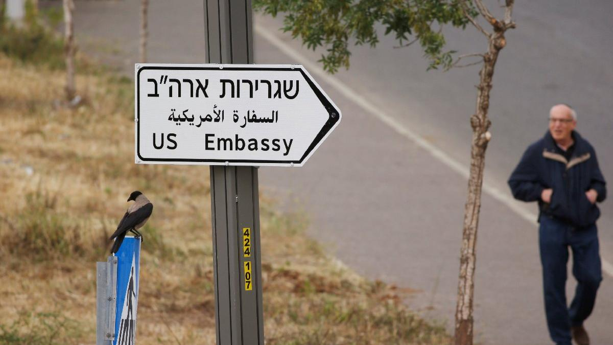 Süreç resmen başladı... ABD, Kudüs'e tabelaları asmaya başladı!