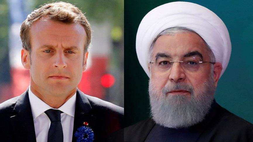 Macron ve Ruhani'den sürpriz görüşme