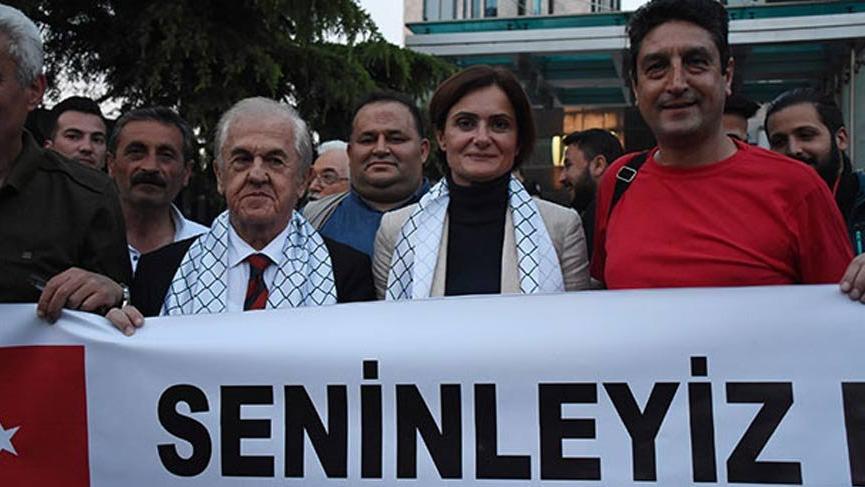 CHP'lilerden konsolosluk önünde eylem!