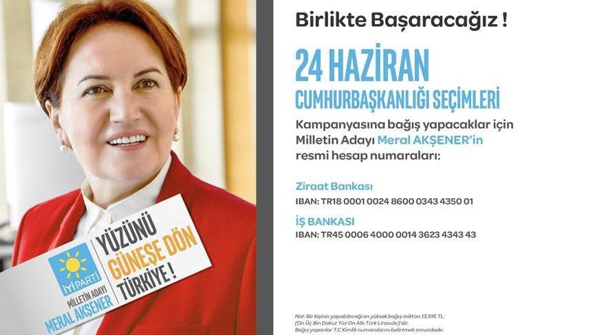 Meral Akşener'in seçim bağış hesabı açıldı