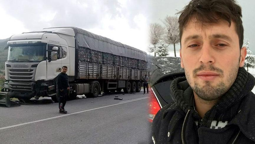TIR'la çarpışan otomobildeki polis memuru öldü