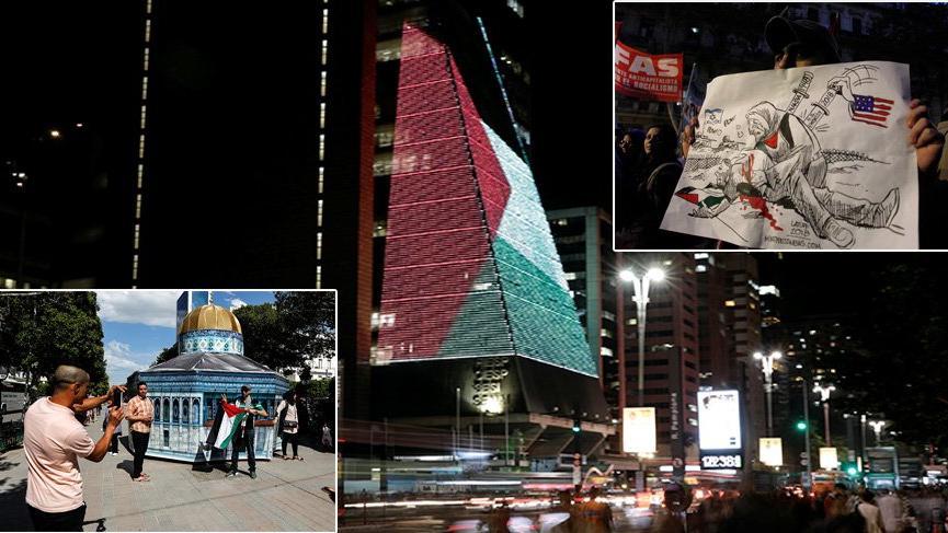 Dünya'dan İsrail'e tepki, Filistin'e destek!