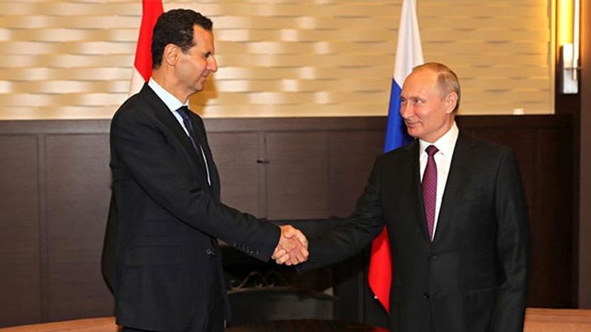Soçi'de sürpriz görüşme! Putin ve Esad…