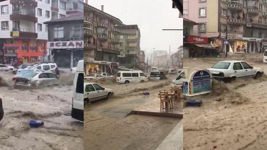 Ankara'da sel dehşeti! Çok sayıda yaralı var