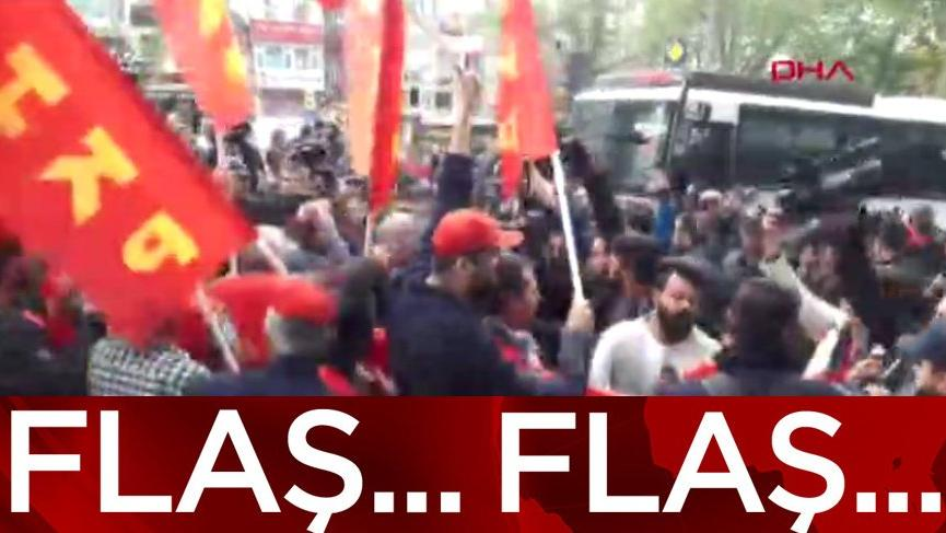 Taksim'e yürümek isteyen gruba polis müdahalesi