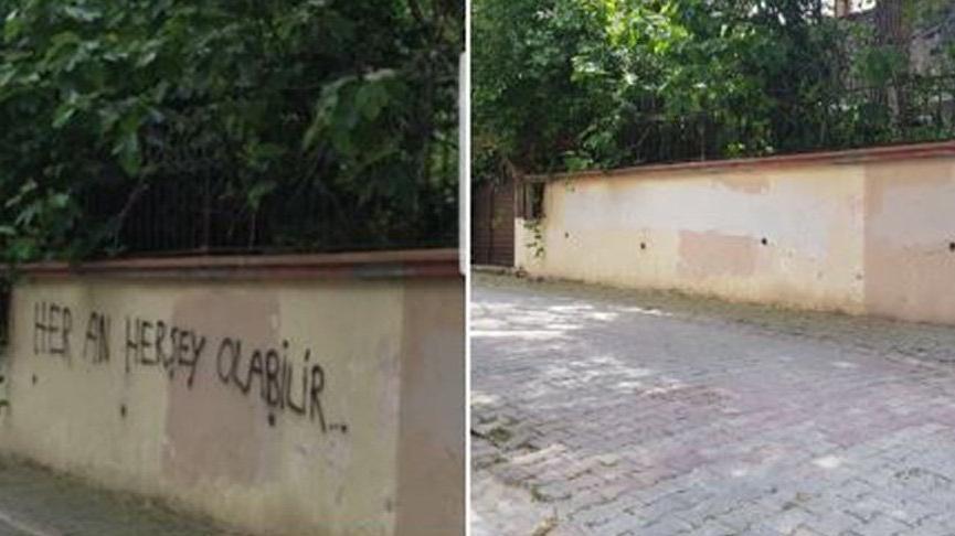 Akşener'in evinin önüne o yazıyı yazanlar bulundu