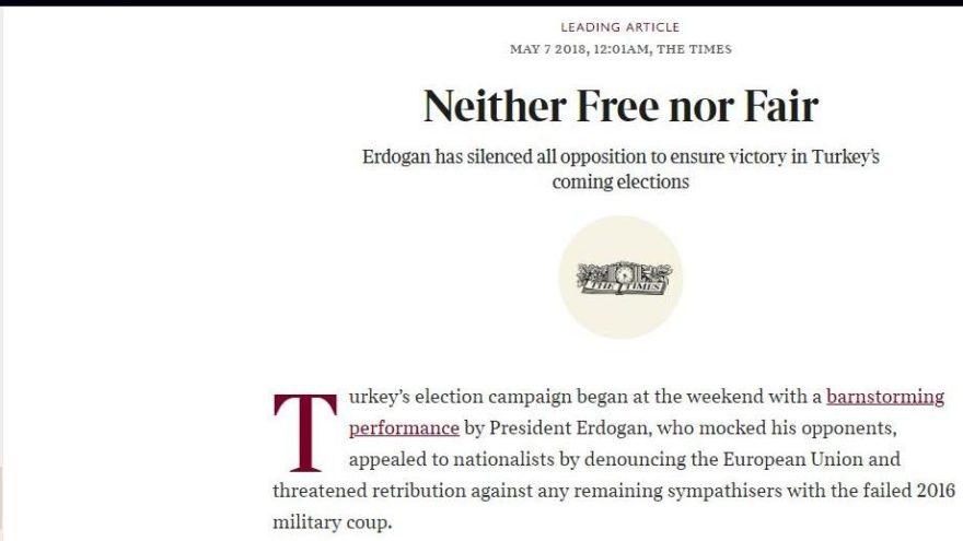 İngiliz The Times'tan 24 Haziran yorumu