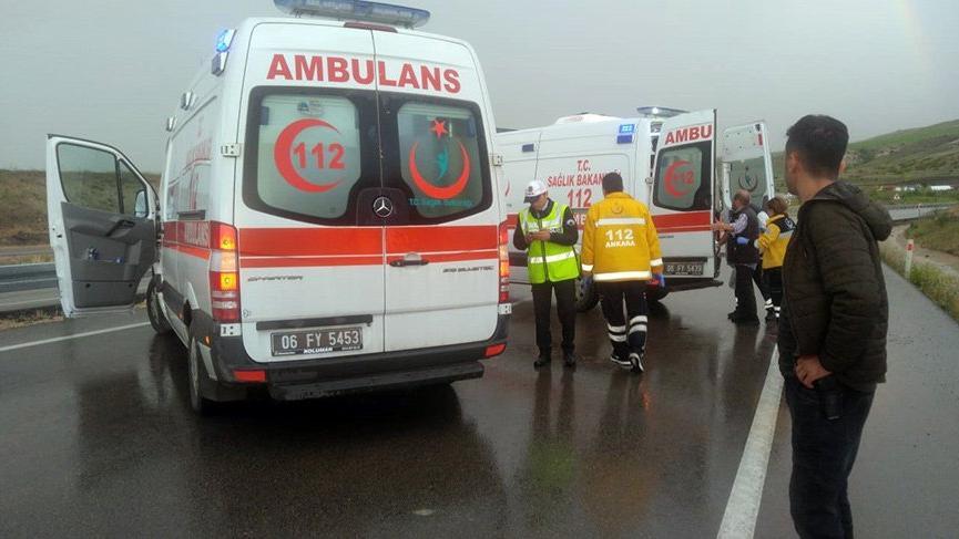 Ankara'da mahkumları taşıyan askeri araç takla attı: 5 yaralı