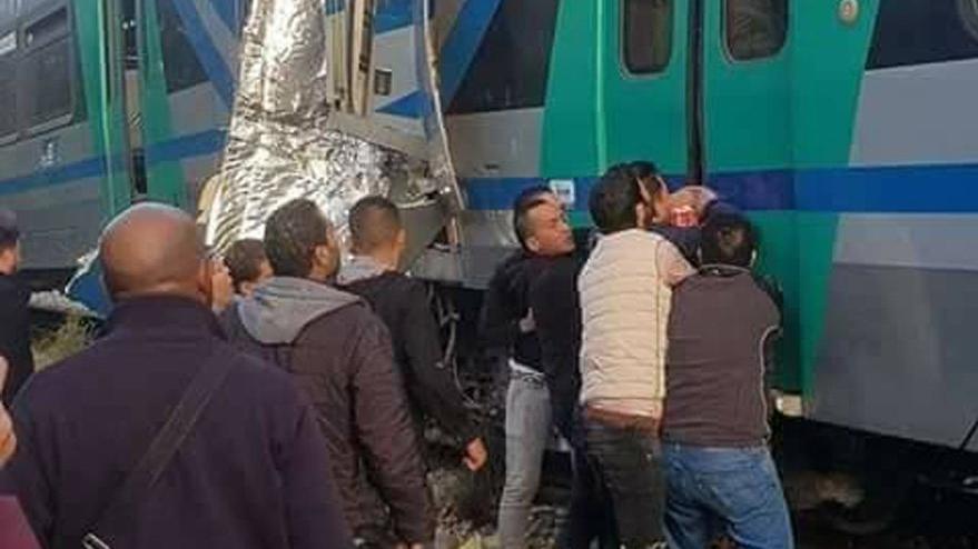 Tunus'ta tren kazası: 1 ölü 60 yaralı