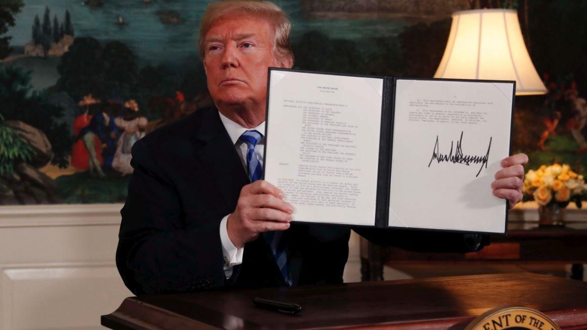 Trump bekleneni yaptı: İran'la nükleer anlaşmadan ayrıldı