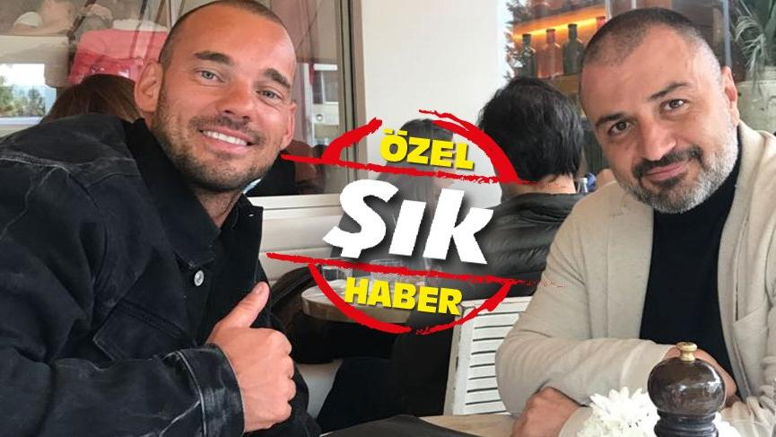 Wesley Sneijder incelemeler için, gizlice İstanbul'a geldi