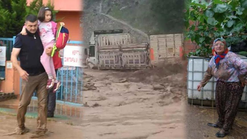 Sağanak yağış Bursa'yı esir aldı!