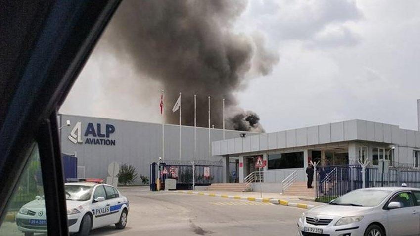 Eskişehir'de havacılık firması fabrirkasında yangın