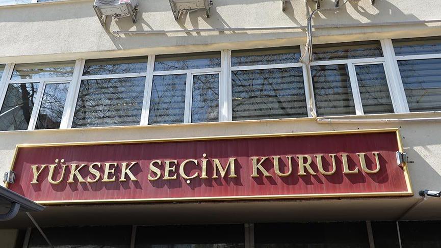 YSK 4 partinin adaylığını onayladı
