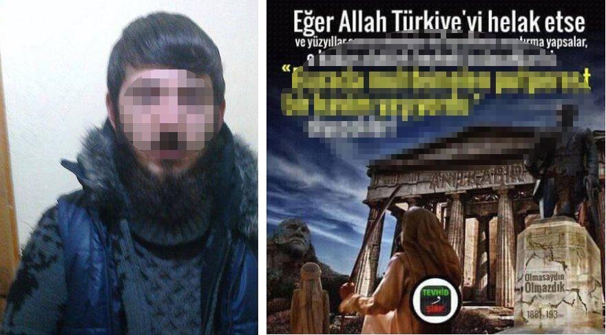 """Muhammet Gül isimli şahıs """"Terör örgütü propagandası yapmak, Atatürk'e hakaret etmek"""" suçlarından 6 yıl 3 ay hapis cezasına çarptırıldı."""