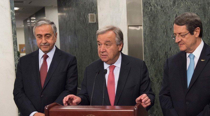 Genel Sekreter Kıbrıs konusunda basına bilgi veriyor, 4 Haziran 2017, BM Genel Merkezi, New York. Fotoğraf: BM