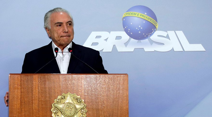 Brezilya Devlet Başkanı Temer/Reuters