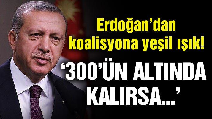 Cumhurbaşkanı Erdoğan'dan son dakika koalisyon açıklaması