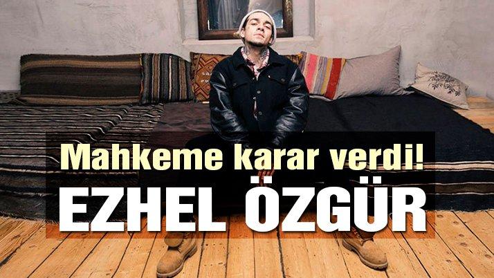 Ünlü rapçi 'Ezhel' uyuşturucuya özendirmekten yargılanıyordu! Mahkeme kararını verdi